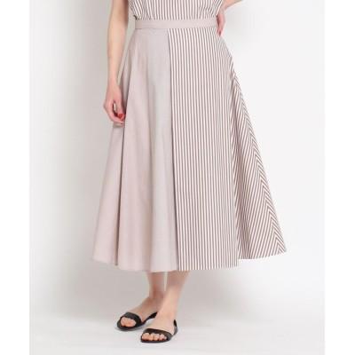 Dessin(Ladies)(デッサン(レディース)) 【CLASSY.6月号掲載/S~L】ストライプ切り替えスカート