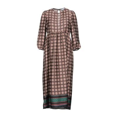 ベルナ BERNA 7分丈ワンピース・ドレス ミリタリーグリーン XS ポリエステル 100% 7分丈ワンピース・ドレス