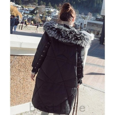 レディース2018冬新作ロングコートフード付きキャメルオリーブジャケット秋冬アウター大きいサイズ中綿ジャケット中綿コートアウターロング