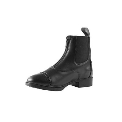 Horze Wexford Kid 'sフロントZip Paddockブーツ 11 ブラック