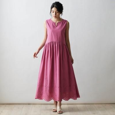 綿100%裾刺繍ワンピース(StyleNote/スタイルノート)