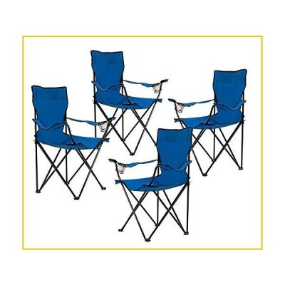 Homewell Portable Folding Chair for Outdoor, Beach and Camping (Blue, 4 Pack)並行輸入品
