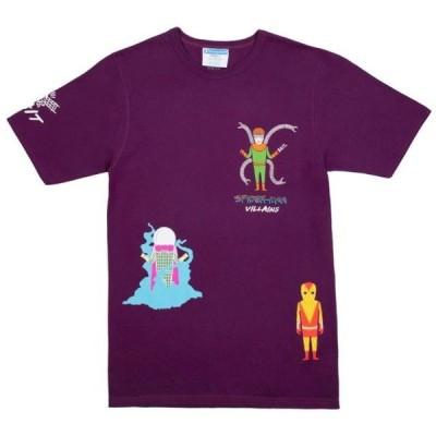 ベイト メンズ 服  BAIT x Spiderman x Champion Men Spiderman Villains Tee (purple)