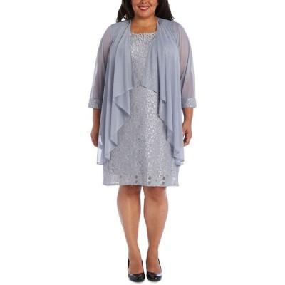 アールアンドエムリチャーズ レディース ワンピース トップス Plus Size Lace Dress & Jacket