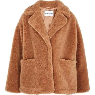 スタンドスタジオ Stand Studio レディース ジャケット シアリング アウター marina brown faux shearling jacket Brown