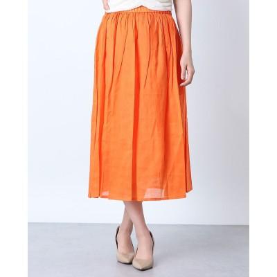 リネーム Rename リネンギャザースカート (オレンジ)