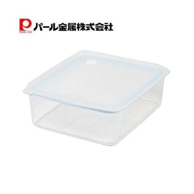 パール金属 Easy Clean 深型 密閉 保存容器 L ブルー HB-2632