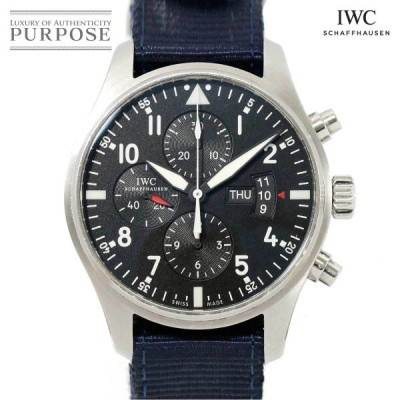 IWC パイロットウォッチ クロノグラフ IW377701 メンズ 腕時計 デイデイト ブラック 文字盤 オートマ 自動巻き インターナショナル ウォッチ カンパニー