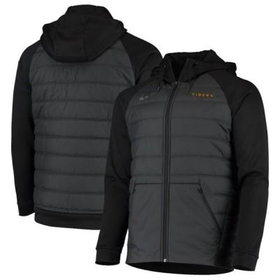 """ナイキ メンズ ジャケット """"LSU Tigers"""" Nike Winterized Raglan Full-Zip Hoodie - Black"""
