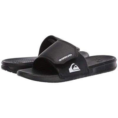 クイックシルバー Bright Coast Adjustable Slides メンズ サンダル Black/White/Black