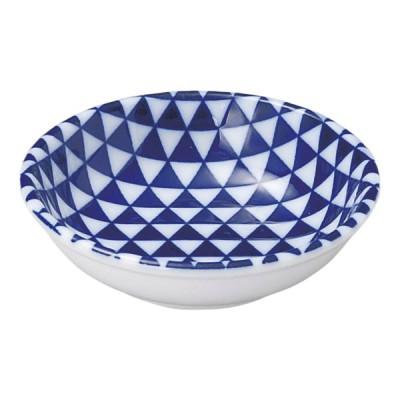 美濃の和食器 花伝山格子 青 11cm薬味皿