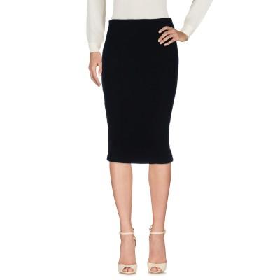 ディースクエアード DSQUARED2 7分丈スカート ブラック M レーヨン 95% / ナイロン 3% / アクリル 2% 7分丈スカート