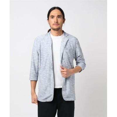 TAKA-Q / セマンティックデザイン/semantic design コールドタッチスラブリップル7分袖カットジャケット MEN ジャケット/アウター > テーラードジャケット