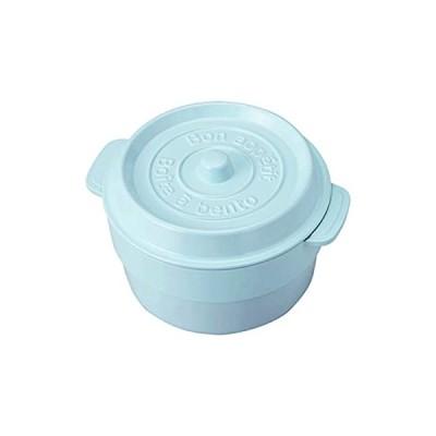 竹中 日本製 竹中 お弁当箱 ココポット ラウンド マーメイドブルー (上段)230ml、(下段)300ml T-76407