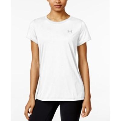 アンダーアーマー レディース シャツ トップス Women's Tech-- Crew Neck T-Shirt White
