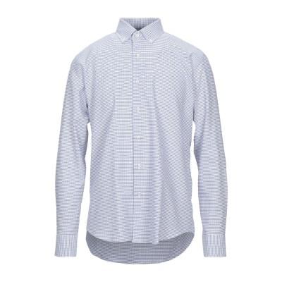 TRU TRUSSARDI シャツ ダークブルー 41 コットン 100% シャツ