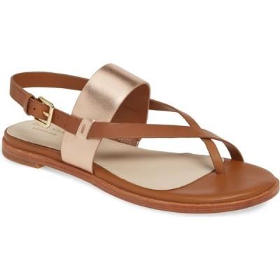 コールハーン COLE HAAN レディース サンダル・ミュール シューズ・靴 Anica Sandal Pecan/Rose Gold Leather