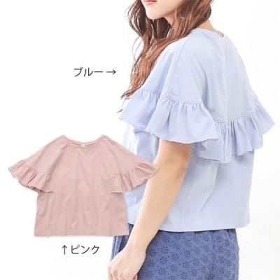 dolcina (ドルチーナ ) フレア袖Tシャツ (フリ−)  女の子 キムラタン 子供服