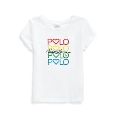 (ガールズ 2才~4才)ロゴ コットン ジャージー Tシャツ