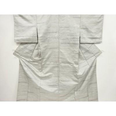 宗sou 霞模様織り出し西陣お召単衣着物【リサイクル】【着】