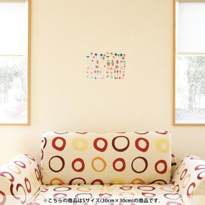 ウォールステッカー 飾り 30×30cm シール式 装飾 おしゃれ 壁紙 はがせる 剥がせる カッティングシート wall sticke  動物 猫 鳥 リボン 009423