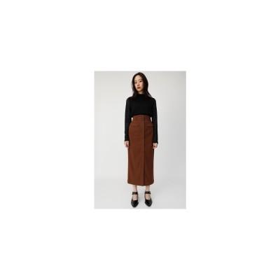 moussy CORSETLONGスカート ブラウン