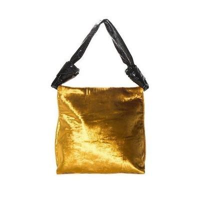 レディース バッグ  The Row Gold Velvet Wander Bag