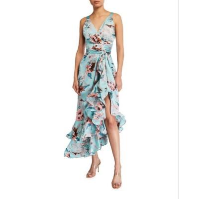 ブロンクス アンド バンコ レディース ワンピース トップス Georgia Floral-Print Midi Ruffle Dress