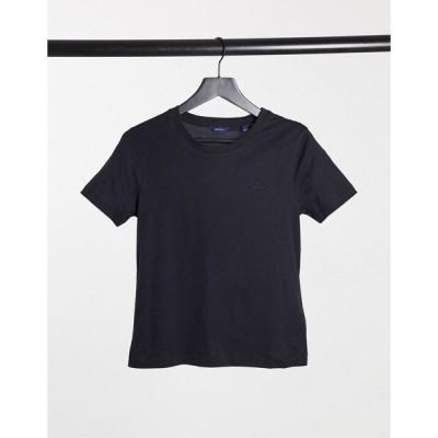 ガント レディース Tシャツ トップス GANT crew neck t-shirt in navy Navy