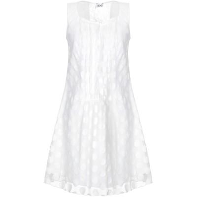 リュー ジョー LIU •JO ミニワンピース&ドレス ホワイト 42 ナイロン 60% / コットン 40% / ポリエステル ミニワンピース&ド