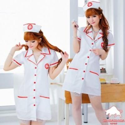 [即納]ナース 看護婦 ハロウィン 仮装 コスプレ 3点セット ナース服 悪魔 制服 グループ コスチューム SEXY ワンピース 白衣 医者