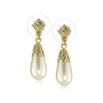 1928 Jewellery Her Majesties Pearl Drop Earrings 並行輸入品