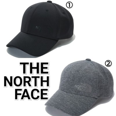THE NORTH FACE ノースフェイス  シグネチャー ロゴ キャップ 黒 グレー メンズ レディース