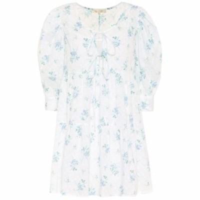 ラブシャックファンシー LoveShackFancy レディース ワンピース ミニ丈 ワンピース・ドレス Mini Bex floral cotton minidress White Sun