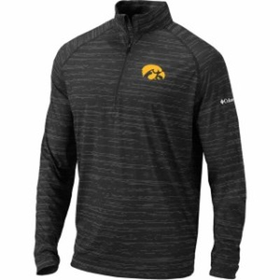Columbia コロンビア スポーツ用品  Columbia Iowa Hawkeyes Black Approach Raglan Half-Zip Pullover Jacket