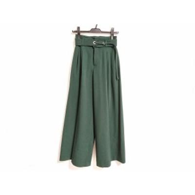 エレンディーク ELENDEEK パンツ サイズ01 S レディース - グリーン フルレングス【中古】20201124