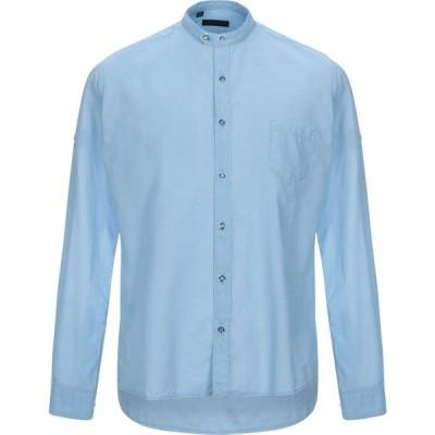 アレッサンドロ デラクア ALESSANDRO DELL'ACQUA メンズ シャツ トップス solid color shirt Sky blue