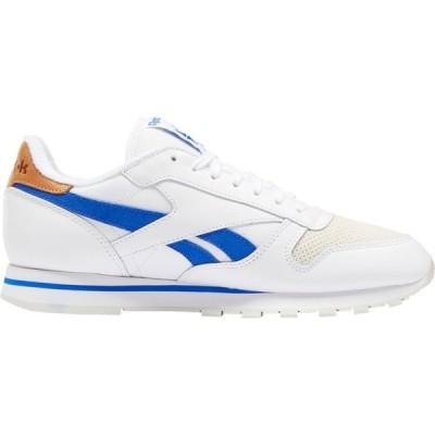 リーボック スニーカー シューズ メンズ Reebok Men's CL Leather Shoes White/Blue