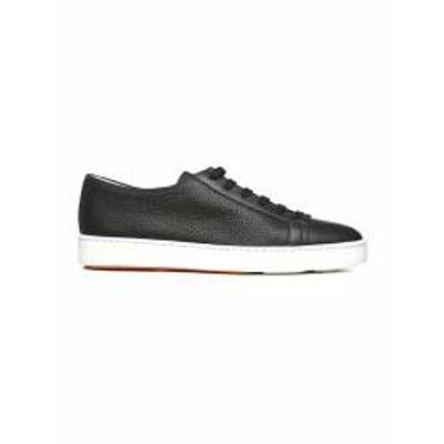 Santoni メンズスニーカー Santoni Club Leather Sneakers Brown