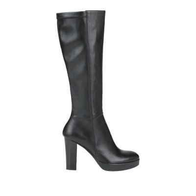 DONNA PIÙ ブーツ ブラック 35 革 ブーツ