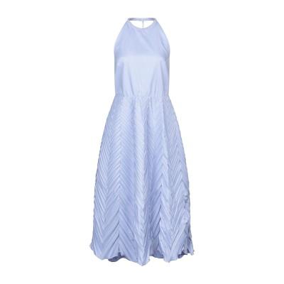 RAME ロングワンピース&ドレス スカイブルー 2 ポリエステル 65% / コットン 35% ロングワンピース&ドレス
