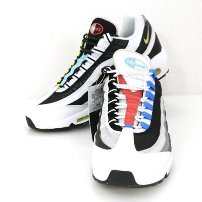 ナイキ NIKE エアマックス 95 QS メンズ シューズ スニーカー 靴 29.5cm ホワイト ブラック【hon】【中古】