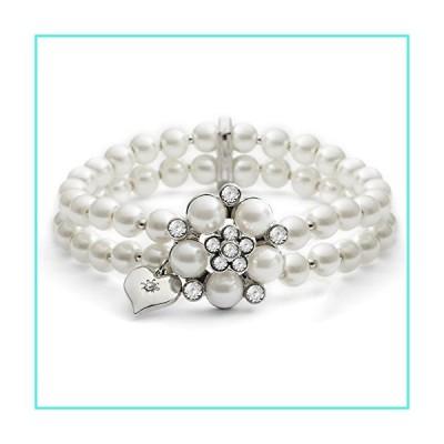 【新品】Lovett & Co Ltd Audrey Pearl Stretch Bracelet (Cream)(並行輸入品)