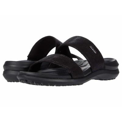 クロックス サンダル シューズ レディース Capri Dual Strap Sandal Black