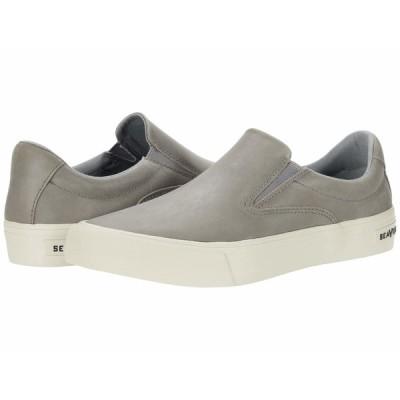 シービーズ スニーカー シューズ メンズ Hawthorne Slip-On Rugged Oil Leather Shale Grey