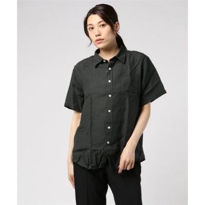 シャツ ブラウス 【Ir】フレンチリネン半袖シャツ
