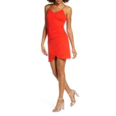 エヌ・エス・アール レディース ワンピース トップス Carrie Ruched Mini Dress RED
