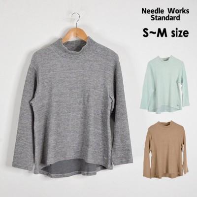 メール便不可 ニードルワークススタンダード 320023A-MG Mock neck T-shirt/モックネックTシャツ[S-M] Needle Works Standard 4023309 oso-2s