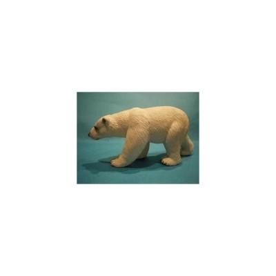 白クマ (くま 熊)の置物「風遊」・、