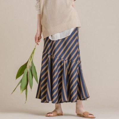 メイソングレイ(MAYSON GREY)/【socolla】裾切り替えマーメイドスカート
